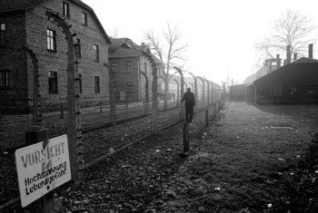 Auschwitz-Birkenau, a Nazi concentration camp in Poland, where over a million Jews and members of other minorities perished during the Second World War.