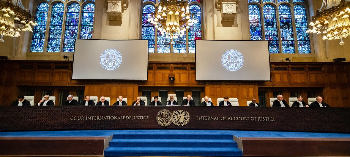 Judges at the International Court of Justice in The Hague consider the case against Myanmar.