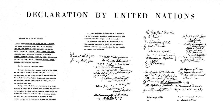La Declaración de las Naciones Unidas comprometía a los signatarios a una alianza en la que no firmarían una paz por separado.
