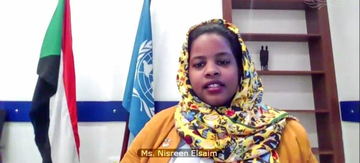 La activista climática sudanesa, Nisreen Elsaim.