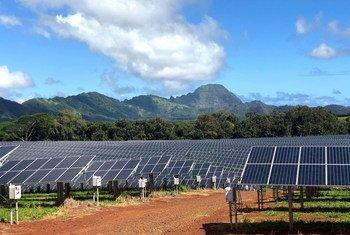 В ходе восстановления экономики после пандемии предпочтение должно отдаваться экологически чистым проектам. На фото: ферма по производству солнечной энергии на Гавайах, США.