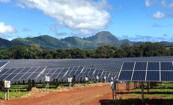The Kauai Island Utility Cooperative solar facility in the US state of Hawaii.