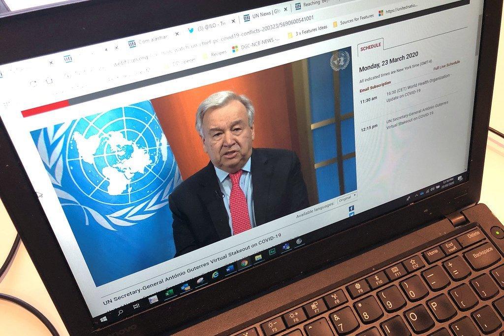 Katibu Mkuu wa Umoja wa Mataifa António Guterres atoa wito kwa ajili ya kupambana na COVID-19