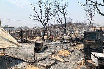 Incêndio devastador atingiu o campo de refugiados de Kutupalong em 22 de março