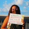 Paloma Costa na Greve Mundial pelo Clima, em 2020