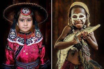 Этим девочкам из российского Приамурья, Папуа Новой Гвинеи и Гватемалы очень идут традиционные костюмы их народов.