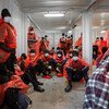 African migrants are rescued in March 2021in the  Mediterranean Sea which remains one of the world's most dangerous maritime migration routes.