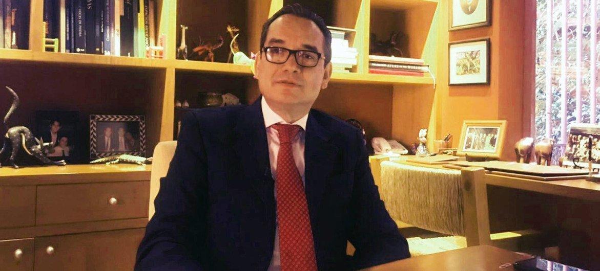 Eduardo Jaramillo Navarrete, responsable de la Cancillería mexicana para las relaciones las Naciones Unidas.