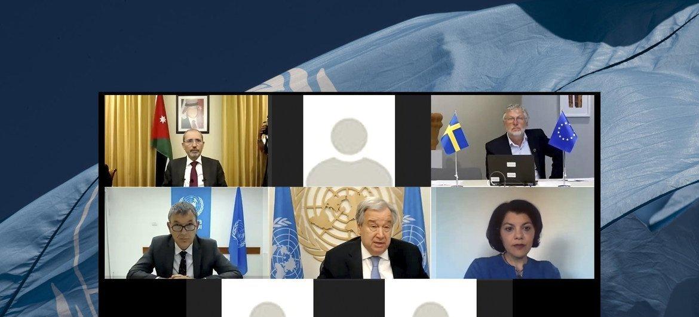 """O encontro foi coorganizado por Jordânia e Suécia sob o tema """"Uma Unrwa forte num mundo desafiador mobilizando ação coletiva""""."""