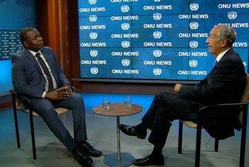 Marcelo Rebelo de Sousa falou à ONU News após participar da cerimônia da eleição do segundo mandato de Guterres