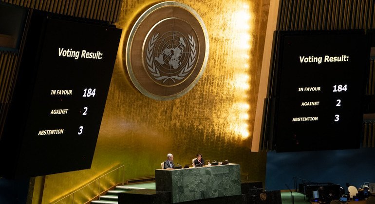 UN General Assembly votes on the necessity of ending the economic, commercial and financial embargo imposed by the United States against Cuba.