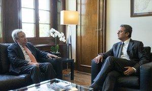 Roberto Azevêdo em encontro com o secretário-geral da ONU, António Guterres.