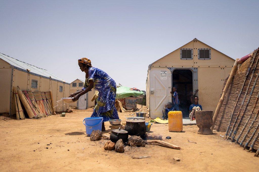 Quelques 11.000 réfugiés vivent dans le camp de réfugiés de Goudoubo au Burkina Faso.