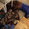 Los niños de una escuela en Dori, Burkina Faso, participan en un simulacro de emergencia por ataque a sus aulas.