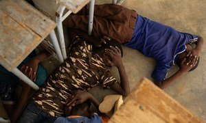 Violência em Burkina Fasso: crianças participam simulação em caso de ataques a escolas