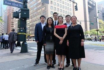 参加青年气候峰会的中国代表