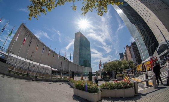 Les bâtiments de l'Assemblée générale des Nations Unies et du Secrétariat à New York.