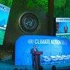Le Secrétaire général de l'ONU, António Guterres, à l'ouverture du Sommet Action Climat le 23 septembre 2019.
