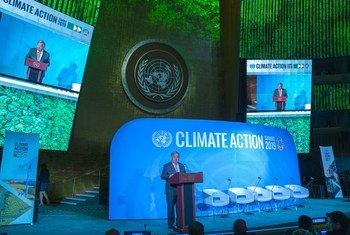 Secretário-geral da ONU, António Guterres, na abertura do Encontro de Cúpula sobre Ação Climática