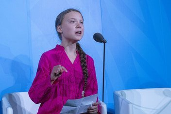 Swedish climate activist, Greta Thunberg , speaks at the opening of the UN Climate Action Summit 2019.