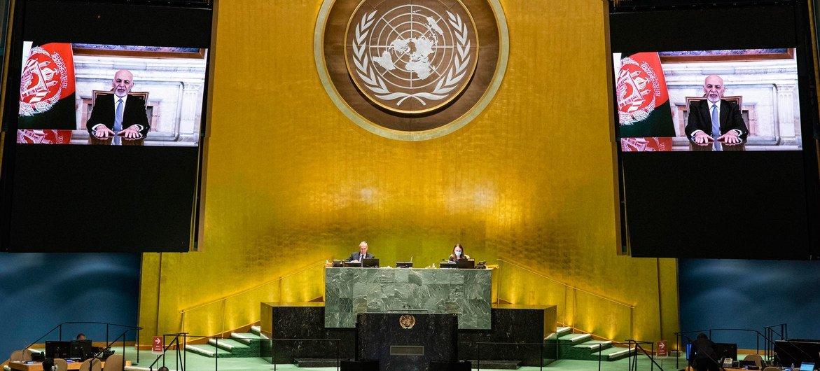 Президент Афганистана Ашраф Гани выступил в ходе общеполитической дискуссии на 75-й сессии Генеральной Ассамблеи ООН.