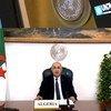 عبد المجيد تبون، رئيس الجمهورية الجزائرية الديمقراطية الشعبية، في المناقشة العامة للدورة الخامسة والسبعين للجمعية العامة