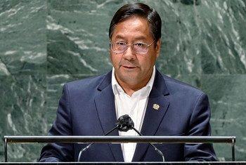 El Presidente de Bolivia, Luis Alberto Arce Catacora, interviene en el debate general de la 76ª sesión de la Asamblea General de la ONU.