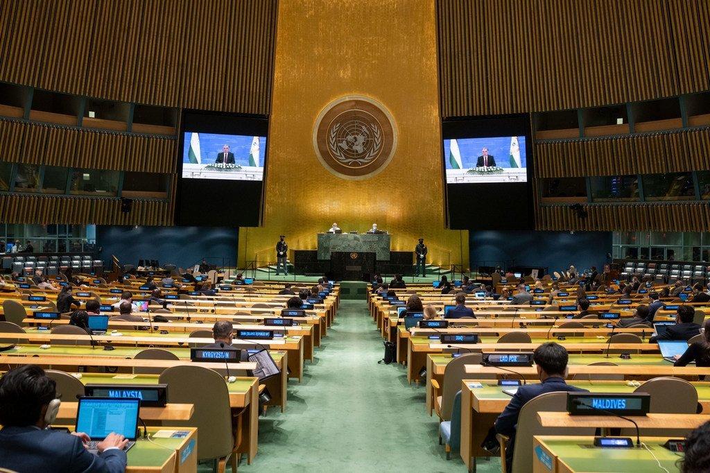 Видеопослание президента Таджикистана Эмомали Рахмона участникам 76-й сессии Генассамблеи ООН