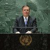 Marcelo Ebrard Casaubón, Minister for Foreign Affairs of Mexico, addresses the general debate of the UN General Assembly's 76th session.