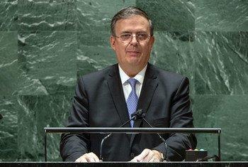Marcelo Ebrard Casaubon, secretario de Relaciones Exteriores de México, se dirige a la Asamblea General.