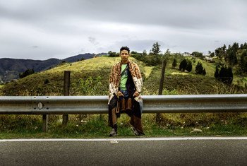 Steven of Venezuela and three friends attempt to hitchhike to the Paramo de Berlin (3,000m), the highest peak on their journey from Cucuta, Venezuela, to Bogota, Colombia.