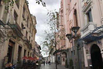 Una calle de Quito, la capital de Ecuador