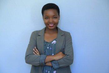 Rebeca Gyumi kutoka Tanzania mwanaharakati wa haki za wanawake na wasichana na mmoja wa washindi wa tuzo ya Umoja wa Mataifa ya haki za binadamu kwa mwaka 2018