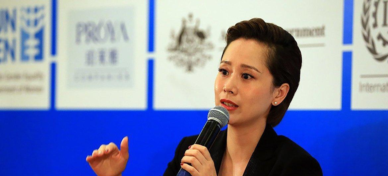 联合国妇女署国别亲善大使海清参加活动