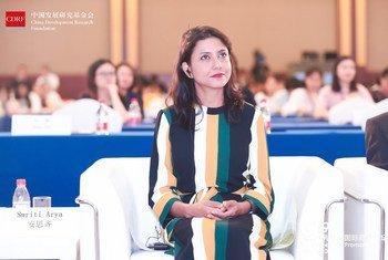 联合国妇女署中国办公室国别主任安思齐参加2019 促进母乳喂养国际高峰论坛