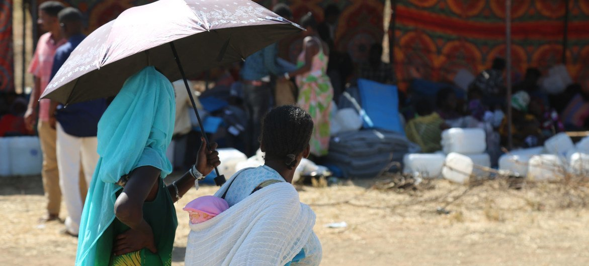 غالبية اللاجئين في أم راكوبة بالسودان هم من النساء والأطفال.
