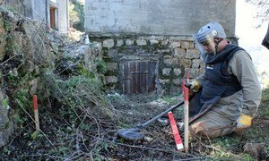 Landmines are cleared in Lebanon.