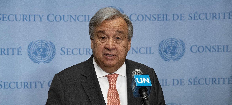 O chefe das Nações Unidas pediu que a área se mantenha desimpedida para acesso humanitário
