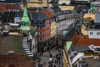 Une rue de Copenhague, au Danemark