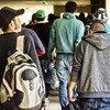 Migrantes centroamericanos en México.
