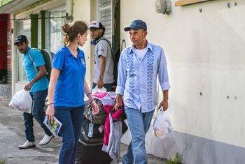 La Organización Internacional para las Migraciones ayuda a los centroamericanos que retornan voluntariamente a su país