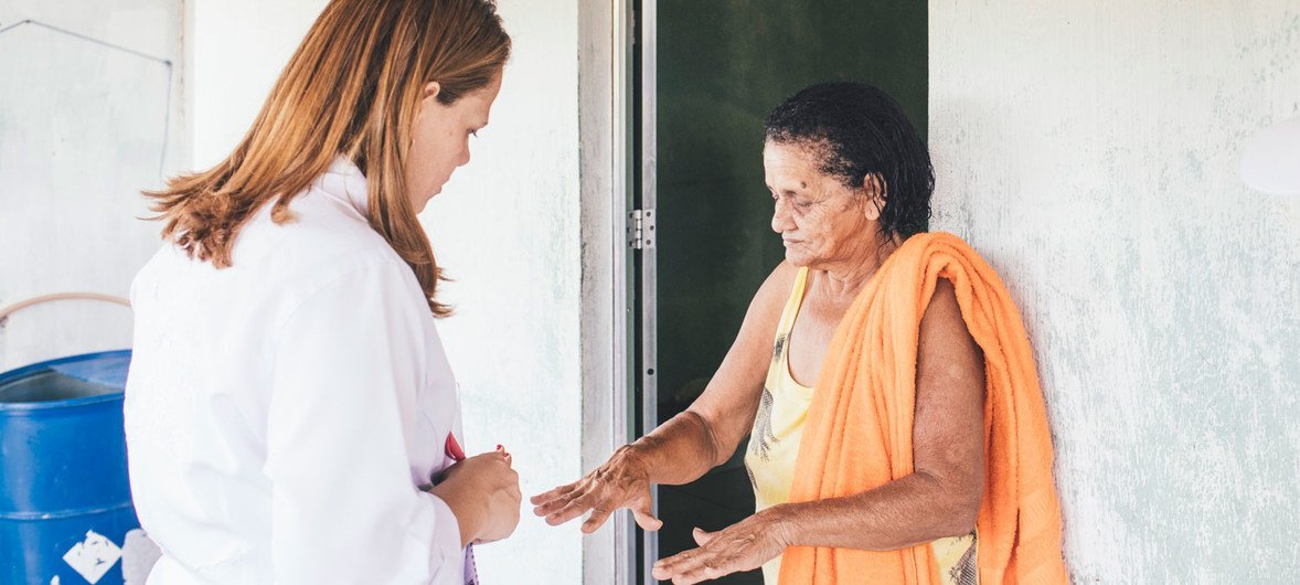 Health workers visit communities in Brazil to raise awareness about leprosy prevention and control.