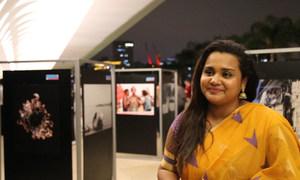 Jayathma Wickramanayake, enviada do secretário-geral para a juventude participa da mostra sobre direitos humanos no Museu do Amanhã, no Rio de Janeiro.