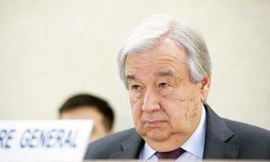 El Secretario General de las Naciones Unidas, António Guterres, durante la apertura del 43º período ordinario de sesiones del Consejo de Derechos Humanos en Ginebra.