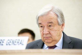 Генеральный секретарь ООН Антониу Гутерриш выступает на 43-й сессии Совета по правам человека.