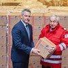 包括奥地利在内的欧盟成员国提供医疗用品,帮助抗击新型冠状病毒疫情。
