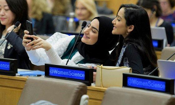 Participantes do evento Investimento em Igualdade em Ciência, Tecnologia e Inovação na Era da Digitalização para o Desenvolvimento Sustentável.