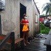 Una mujer embarazada en un programa de atención apoyado por UNFPA en Santa Cruz do Arari, Pará, Brasil
