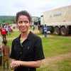 British actor, Gugu Mbatha-Raw, who has been named as a UNHCR Goodwill Ambassador visited Uganda in 2019.