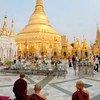 缅甸仰光的寺院正在举行佛教仪式(2013年5月图片)。